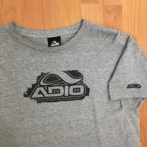 Vtg Adio Skateboarding Shoes Distressed T-Shirt M
